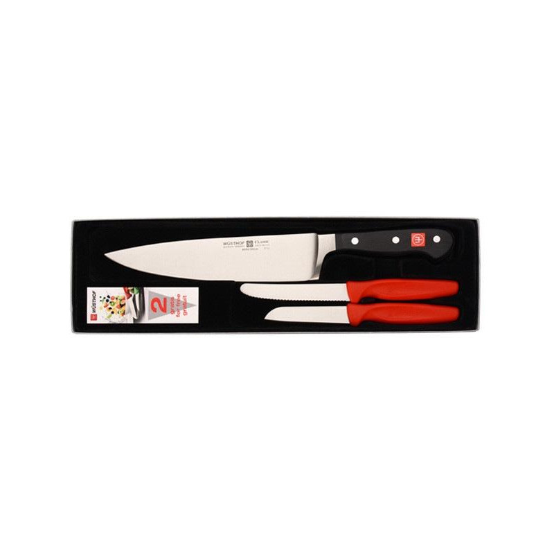 Pack Cuchillo Chef Classic Wüsthof + 2 cuchillos peladores de regalo