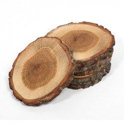 Conjunto 4 bases para copos madeira de carvalho Rio lindo
