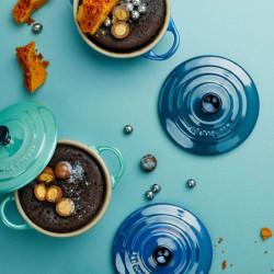 Mini cocottes Metallics verdes y azules de Le Creuset