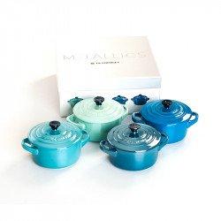 4er-Set runde Mini Cocottes von Le Creuset