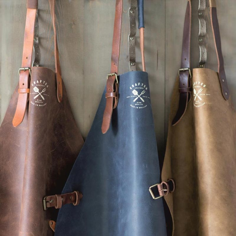 Uniseks Vintage Crafted leren schort