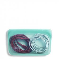 Puedes utilizarla para cualquier uso! Bolsa Stasher de silicona color Aqua