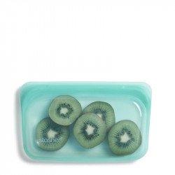 Bolsa Stasher de silicona color Aqua tamaño pequeño