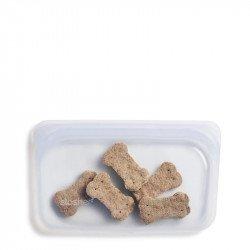Bolsa Stasher de silicona transparente pequeña
