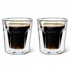 Conjunto 2 copos em vidro Leopold Vienna para café expresso.