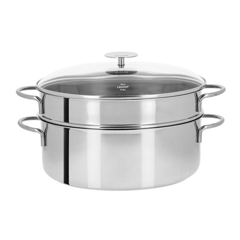 Sistema de cocina al vapor oval inox de Cristel