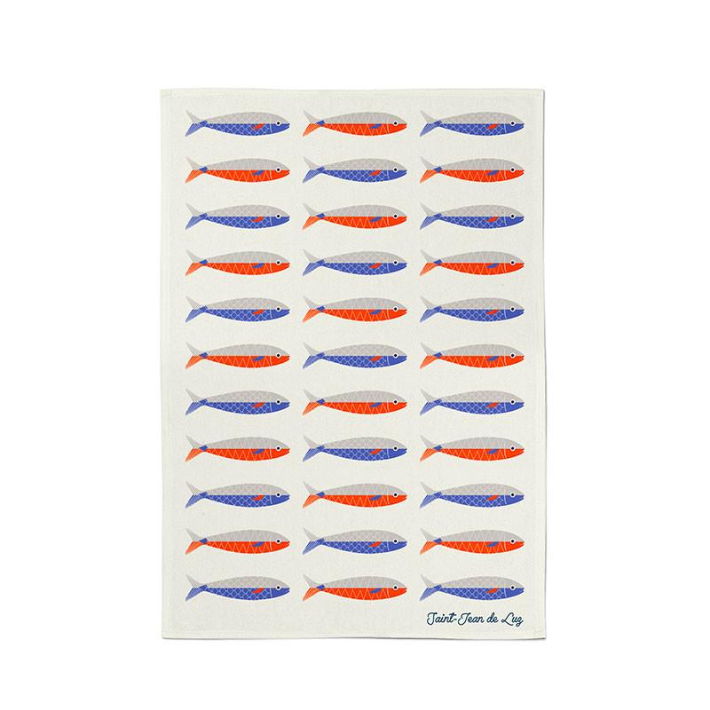 Paño de cocina colección Koadro Sardines de Jean Vier
