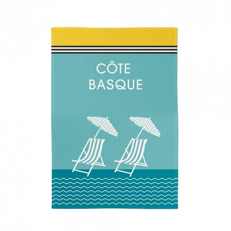 Paño de cocina Kontatu Côte Basque Lagune de Jean Vier