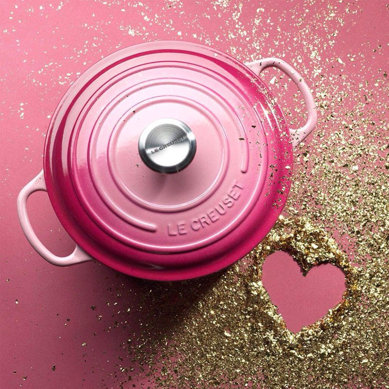 Cocotte em ferro Ombré Le Creuset cor de rosa - Promoção!