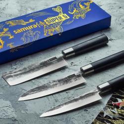 Imagen de Set regalo 3 cuchillos japoneses Super 5 Samura
